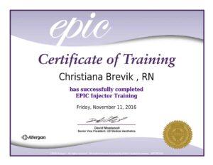 FAC EPIC Certificate