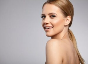 45964281 - beautiful woman with perfect fresh skin.